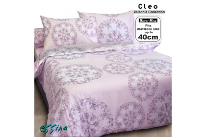 Essina Super King 40cm High Mattress Modern & Stylish Comforter & Fitted Sheet set 100% Cotton 620TC ( Valencia Cadar Super King , 10 design available )