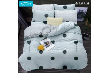 Essina Arcadia Modern Style Quilt Cover & Fitted Bed Sheet Microfiber Set Cadar Queen / King / Super Single ( 33cm high mattress )