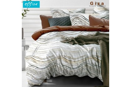 Essina Arcadia Comforter & Fitted Bed Sheet Cadar Set Queen/  King / Super Single Modern Style (33cm High Mattress )