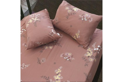 Essina Bouquet 100% Cotton Fitted Bedsheet set Cadar Queen / King / Super Single ( Valencia Collection )