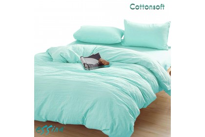 Essina Cotton Soft Pre-Washed Quilt Cover & Fitted Bedsheet set Cadar Microfiber Plush King , Queen , Super Single