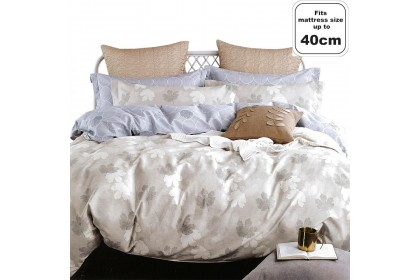 """Essina Valencia 100% Cotton 620 thread counts Quilt Cover set (Fitted sheet fit maximum 16"""" mattress)"""