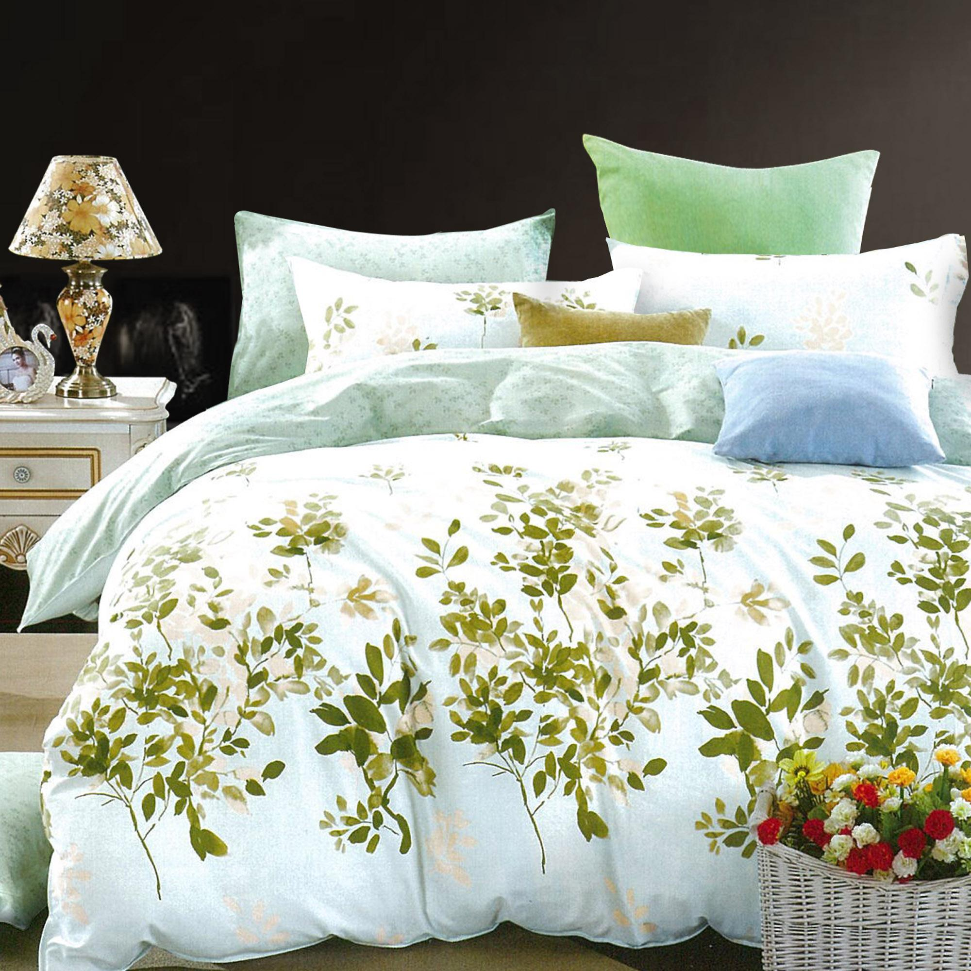 Essina Laurel,100% cotton 620TC Quilt/Duvet Cover with Pillow Cases (Bedsheet not included) ( SUPER SINGLE)