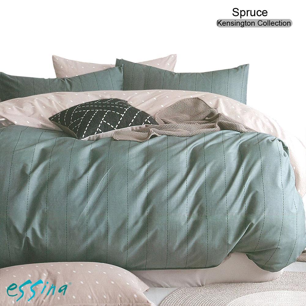 Essina Spruce Queen Cadar 100% Cotton 620TC Fitted Bedsheet set (Kensington Collection)