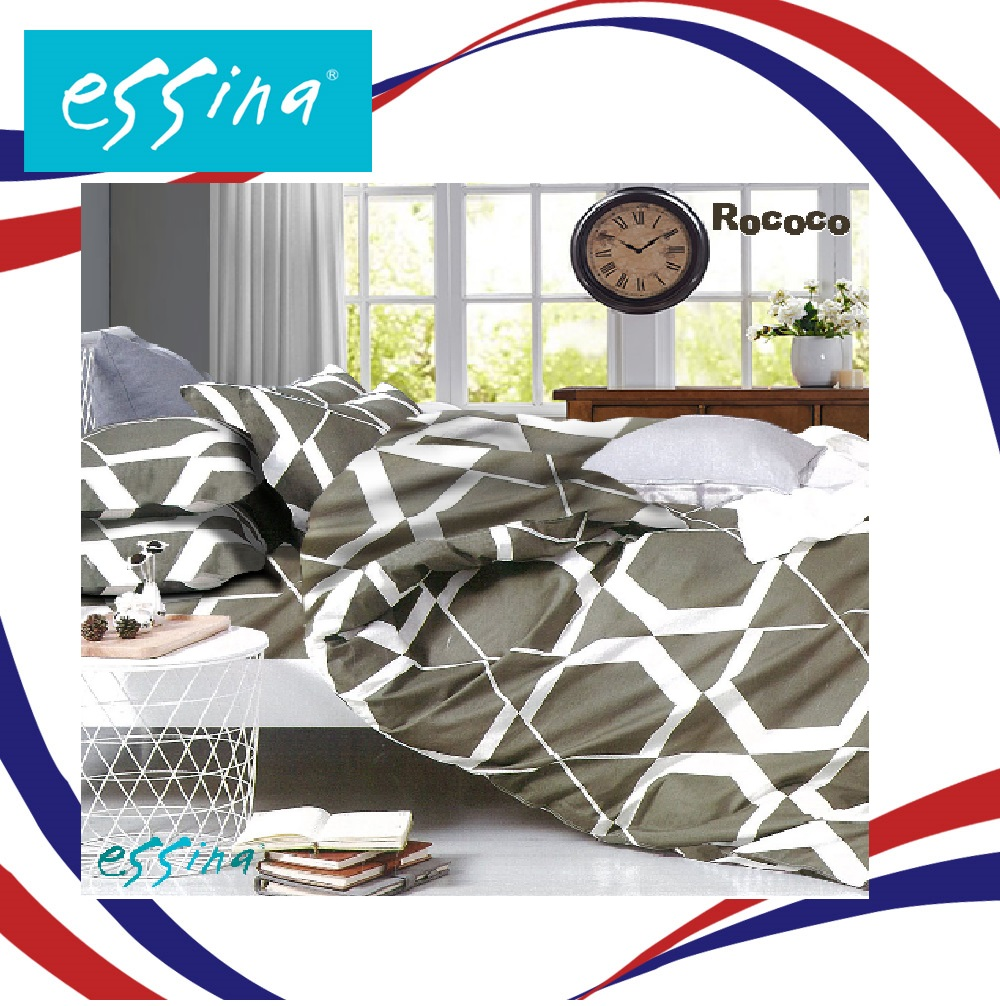 Essina Rococo Fitted Bedsheet set Cadar Queen 100% Cotton 620TC Fitted Bed sheet set