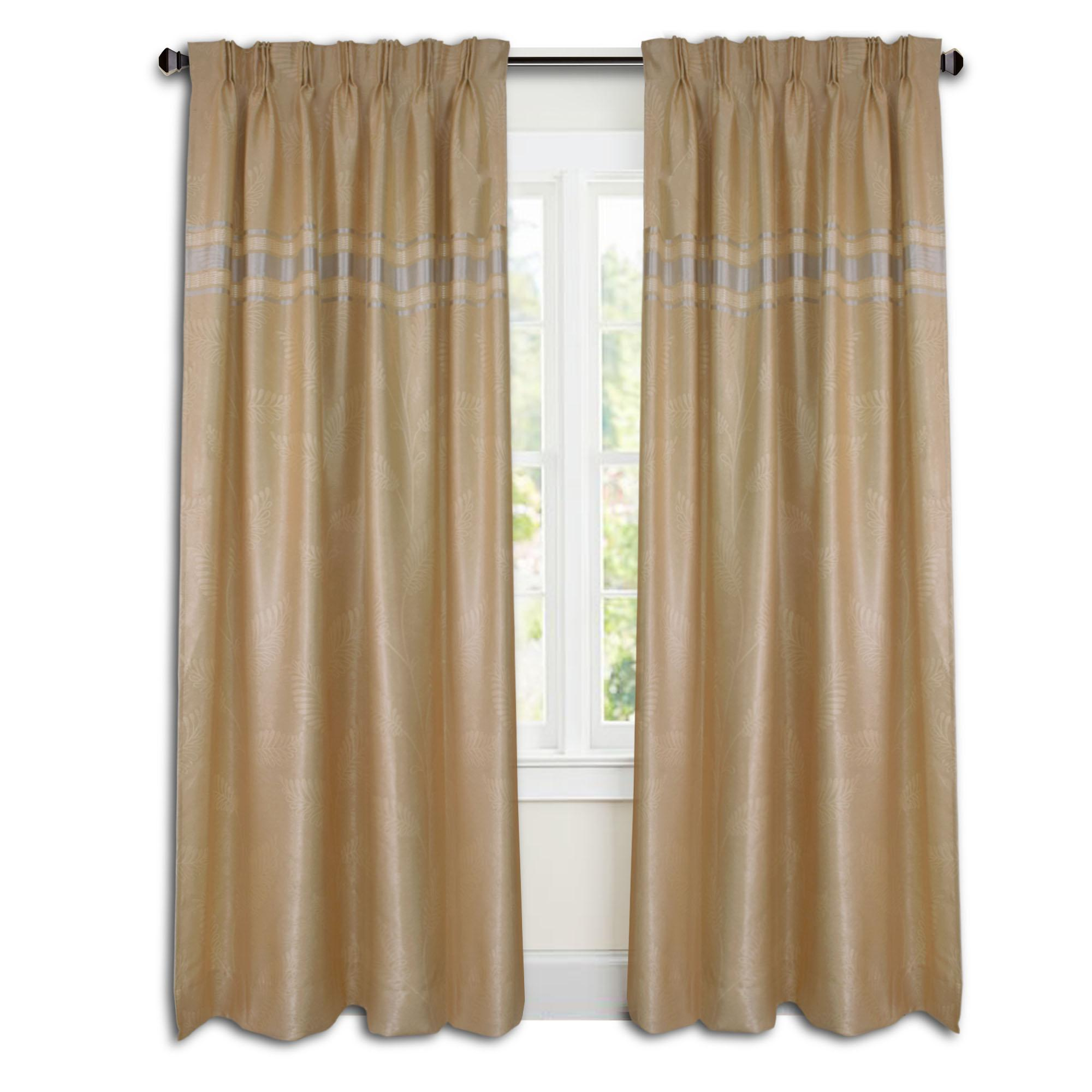 Essina Cortina Premium Blackout French Pleated Curtain 2 Panel Window