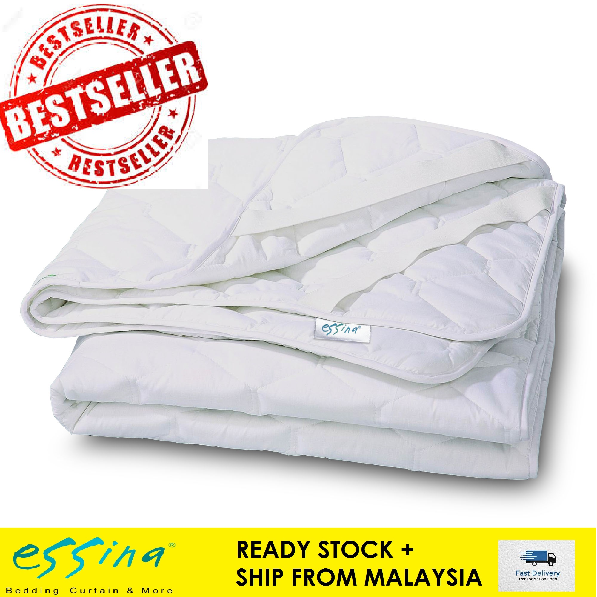 Essina Washable Quilted Mattress Protector with Elastic Band - 3 size available King , Queen & Super Single