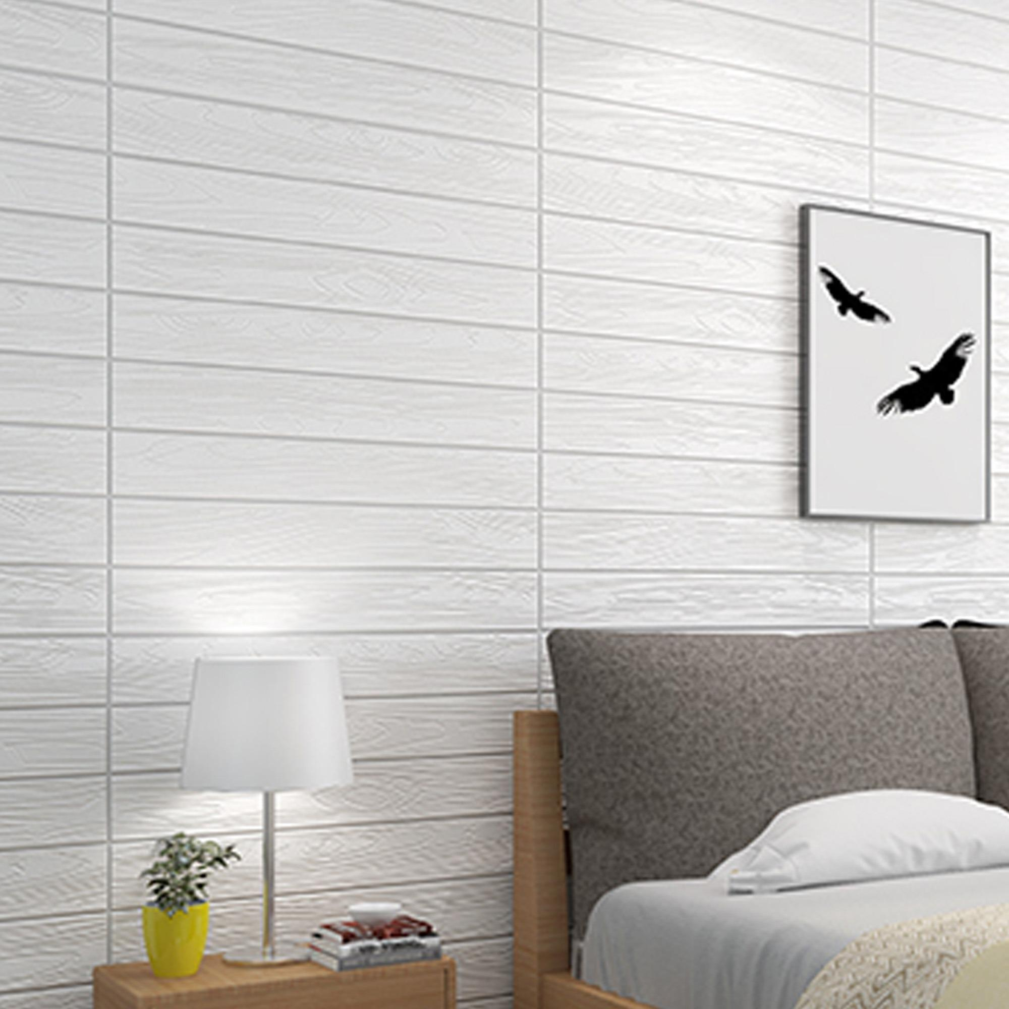 Wallsticker Wood 3D DIY Wall (70cm x 75cm) PE Foam 1 PIECE ( 2 DESIGN AVAILABLE )
