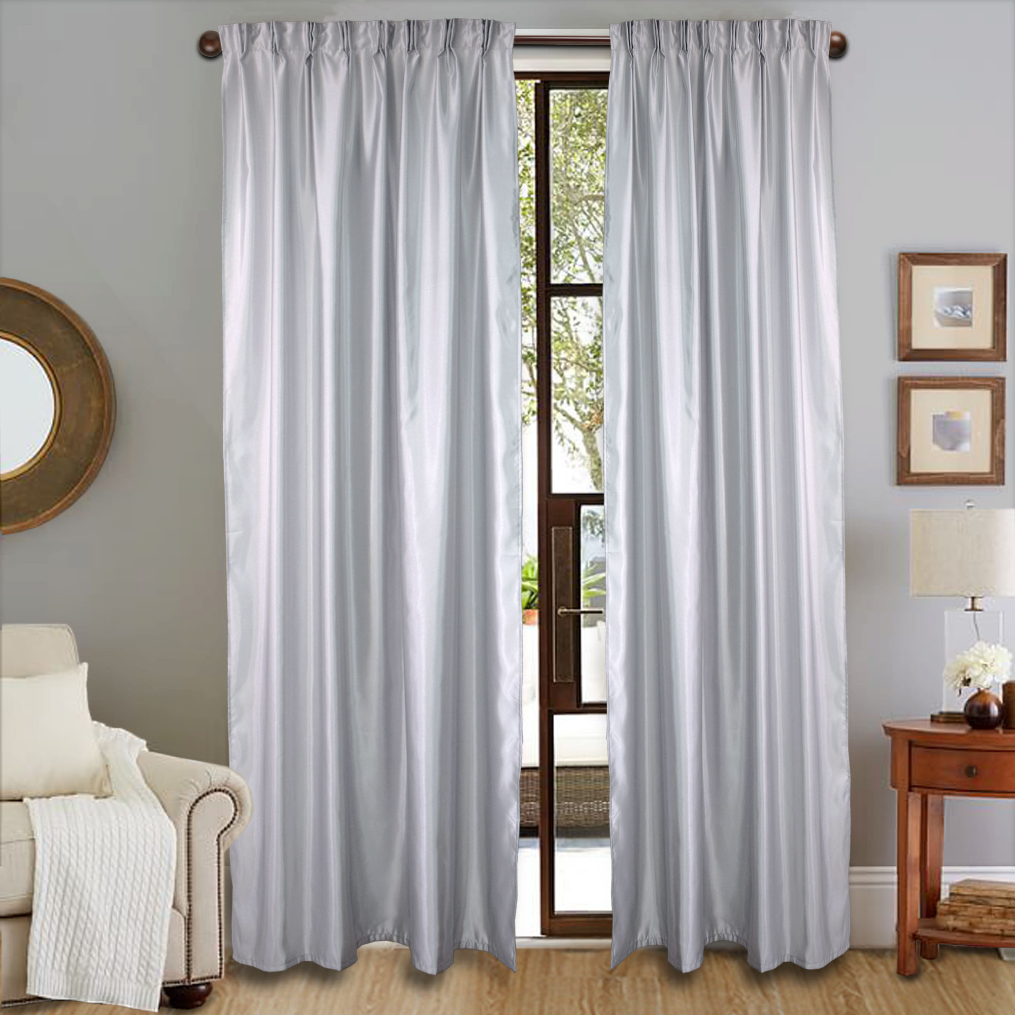 READY STOCK : Essina Glitter Semi Blackout French Pleated Curtain 1 Layer 1.4M (W) x 2.4M (L) - 1 PIECE ( HOOK TYPE - 3 COLOUR AVAILABLE)