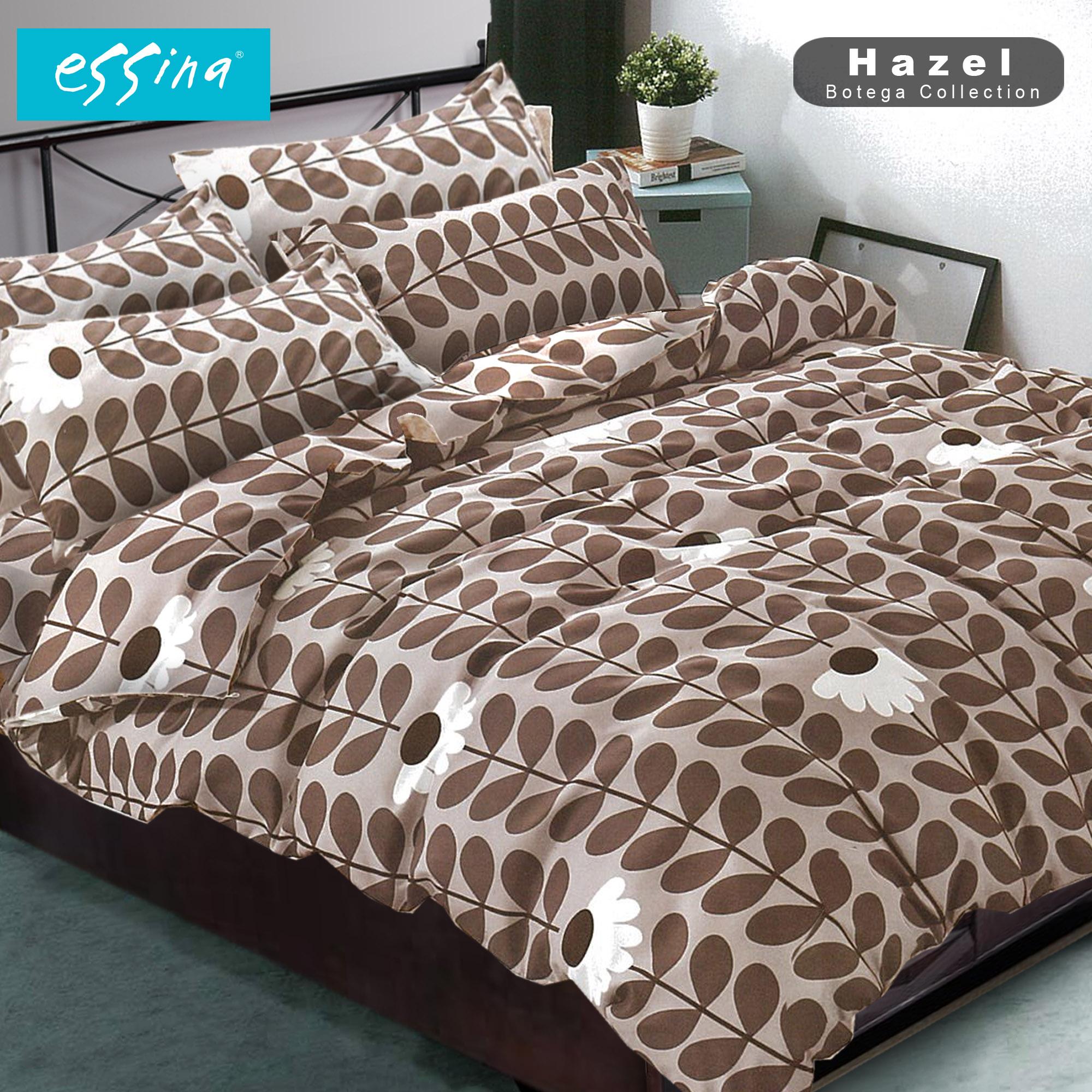 Essina Bottega Classic & Vintage Comforter & Fitted Bed Sheet set Cadar Microfiber set Queen size ( 4 in 1)  ( 33cm High Mattress ) ( Adessa / Tiffany / Hazel )