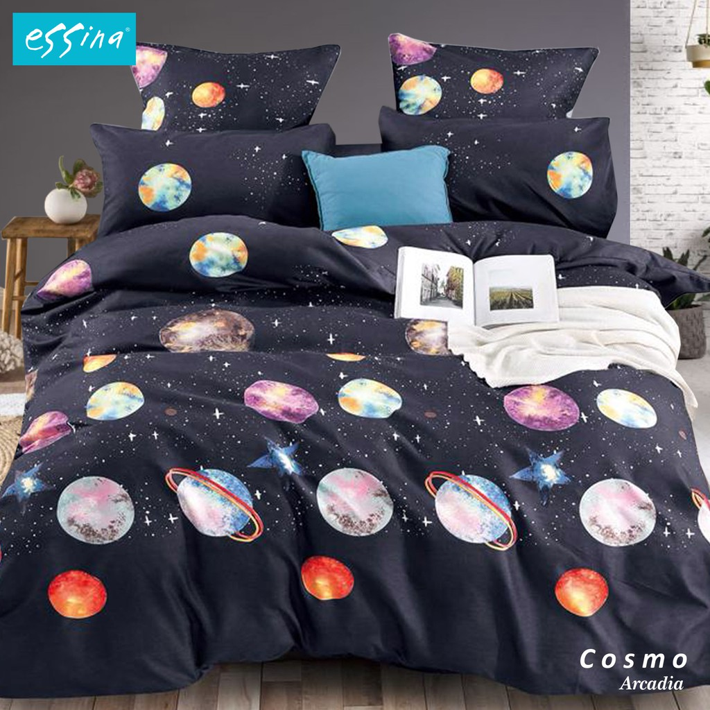 [NEW] Essina Arcadia Comforter & Fitted Bedsheet Cadar Queen / King / Super Single Modern Style 33cm High Mattress [ Bohemia , Violeta , Octave , Cosmic , Origami ]