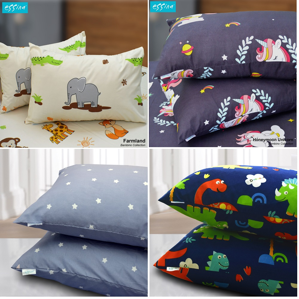 Essina 1 piece Bambino Microfiber Pillow Case 1 PIECE/PACK , 48cm x 72cm (PILLOW NOT INCLUDED)