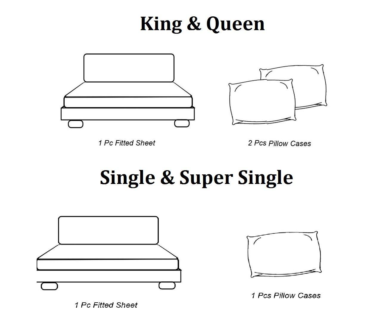 Essina Cotton Soft Microfiber Plush Cadar Bedsheet Queen / King / Super Single Plain Colour
