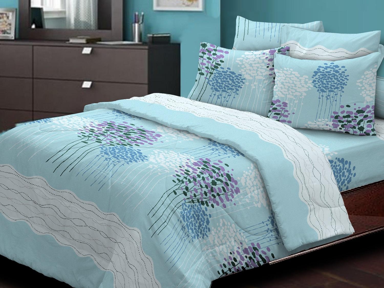 Essina 100% Cotton Quilt Cover & Fitted Bedsheet set ( Cadar Super Single ) ( Quilt Promo)